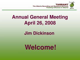 Annual General Meeting April 26, 2008