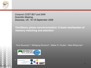 Oscillatory phase synchronisation: A brain mechanism of memory matching and attention
