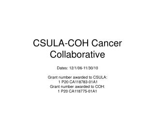 CSULA-COH Cancer Collaborative