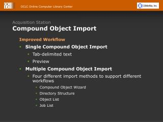 Acquisition Station Compound Object Import
