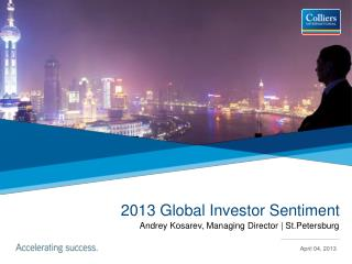 2013 Global Investor Sentiment