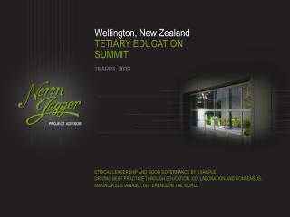 Wellington, New Zealand TETIARY EDUCATION SUMMIT