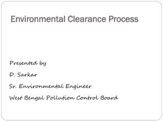 Environmental Clearance Process