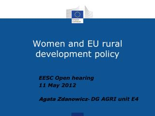Women and EU rural development policy