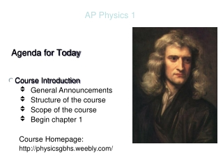 AP Physics Today s Agenda