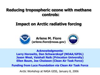 Reducing tropospheric ozone with methane controls: Impact on Arctic radiative forcing