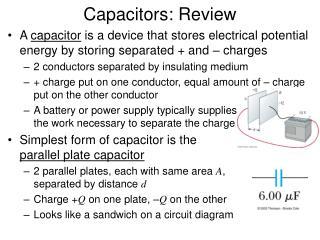 Capacitors: Review