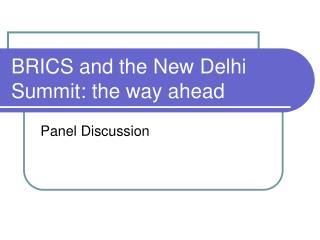 BRICS and the New Delhi Summit: the way ahead