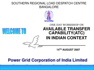 SOUTHERN REGIONAL LOAD DESPATCH CENTRE BANGALORE