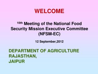 Department of agriculture Rajasthan,  jaipur