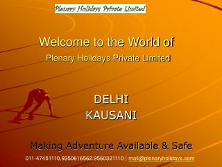 Welcome to the World of  Plenary Holidays Private Limited