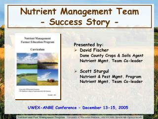 Nutrient Management Team - Success Story -