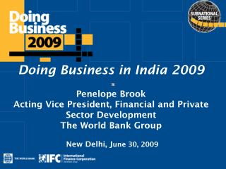 Doing Business in India 2009 Penelope Brook