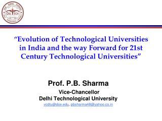 Prof. P.B. Sharma