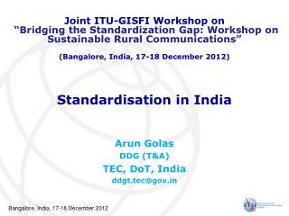 Standardisation in India