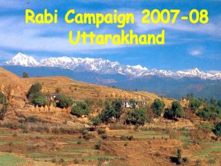 Rabi Campaign 2007-08  Uttarakhand