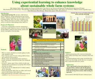 Using experiential learning to enhance knowledge  about sustainable whole farm systems