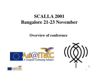 SCALLA 2001 Bangalore 21-23 November