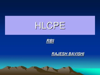 HLCPE