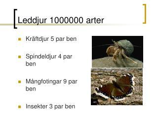 Leddjur 1000000 arter