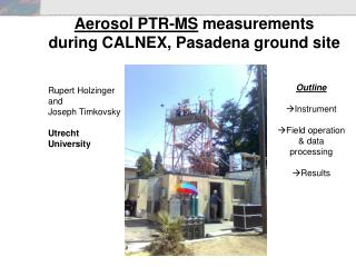 Aerosol PTR-MS  measurements during CALNEX, Pasadena ground site