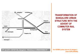TRANSFORMATION OF BANGALORE URBAN STRUCTURE WITH THE ADVENT OF COMMUTER RAIL SYSTEM