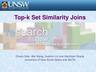 Top-k Set Similarity Joins