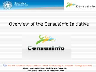 Overview of the CensusInfo Initiative