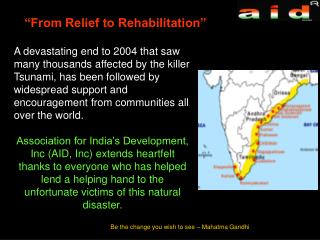 """From Relief to Rehabilitation"""