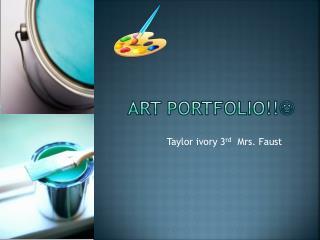 Art portfolio!! 