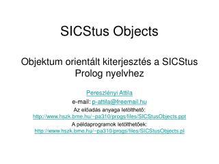 SICStus Objects