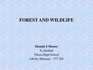 FOREST AND WILDLIFE