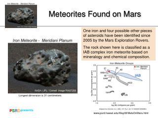 Meteorites Found on Mars