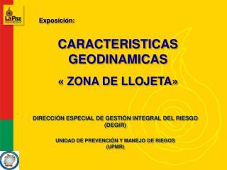 CARACTERISTICAS GEODINAMICAS
