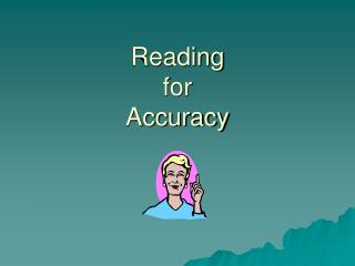 Reading  for  Accuracy