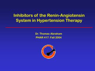 Inhibitors of the Renin-Angiotensin System in Hypertension Therapy