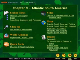 Chapter 9   Atlantic South America