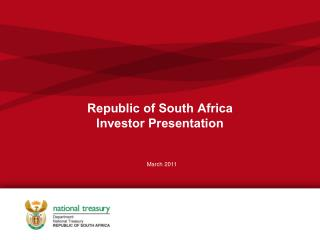 Republic of South Africa Investor Presentation