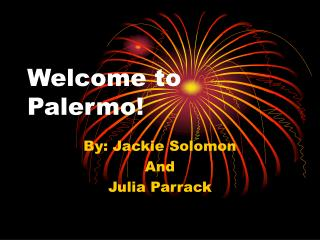 Welcome to Palermo!