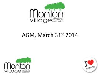 AGM, March 31 st  2014