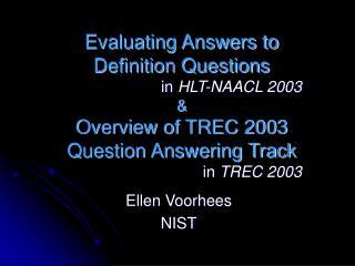 Ellen Voorhees NIST