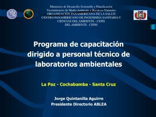 Programa de capacitación dirigido a personal técnico de laboratorios ambientales