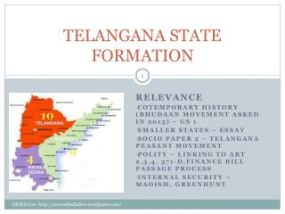 TELANGANA STATE FORMATION