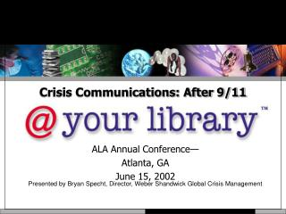 Crisis Communications: After 9/11