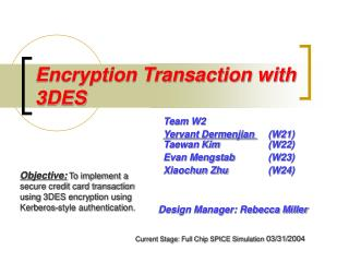 Encryption Transaction with 3DES