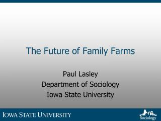 The Future of Family Farms