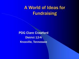A World of Ideas for Fundraising