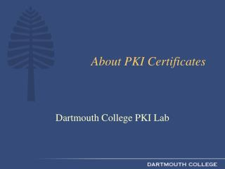 About PKI Certificates