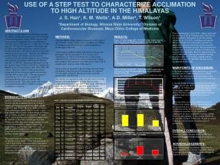 USE OF A STEP TEST TO CHARACTERIZE ACCLIMATION TO HIGH ALTITUDE IN THE HIMALAYAS