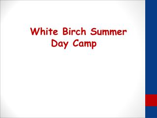 White Birch Summer Day Camp